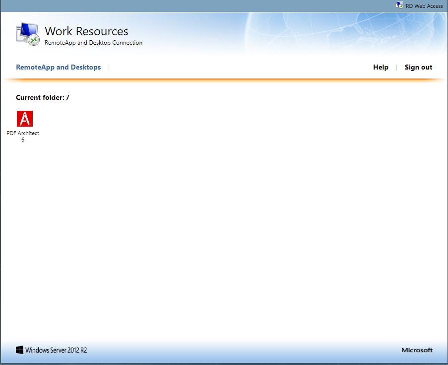 How to Publish and Remove PDF Architect via Terminal Server