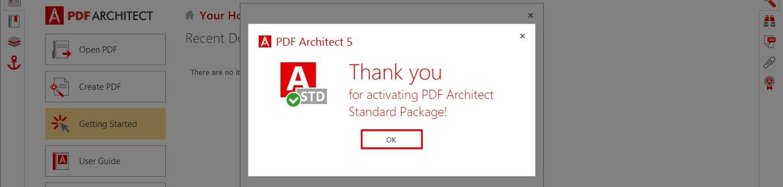 pdf architect key license