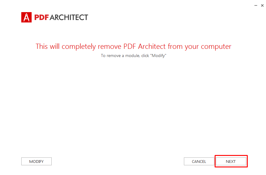 How to Uninstall PDF Architect – PDF Architect